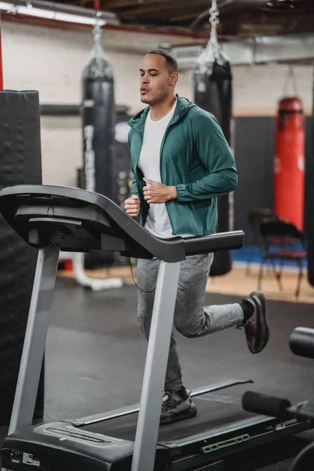 a man training on treadmill